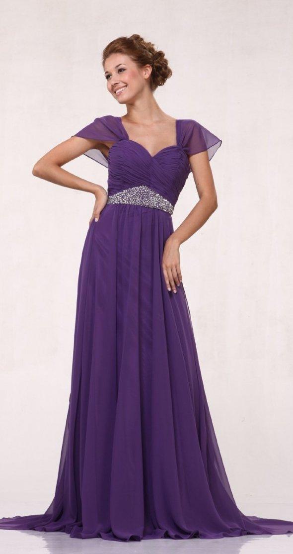 ljubičasta vencana haljina