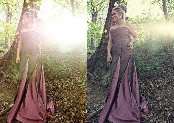 haljina ljubicasta