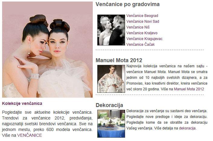 vencanice - redizajn sajta